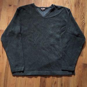O Hanlon Mills v neck fleece sweatshirt vintage